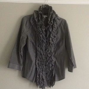 Tops - Ruffled dress shirt -size large - gently worn